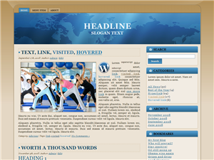 Blue & Brown Globe WP Theme