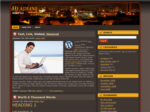 Brown City WP Theme