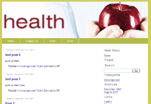 Free Health WP Theme