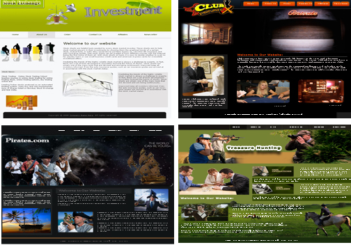 4 website templates package